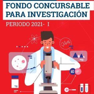 """Ganadores del Concurso """"Fondo Concursable para Investigación 2021 – I"""""""