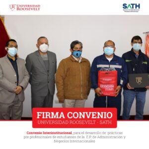 LA UNIVERSIDAD ROOSEVELT SUSCRIBE CONVENIO CON LA SATH HUANCAYO A FIN DE FOMENTAR EL DESARROLLO PROFESIONAL DE SUS ESTUDIANTES