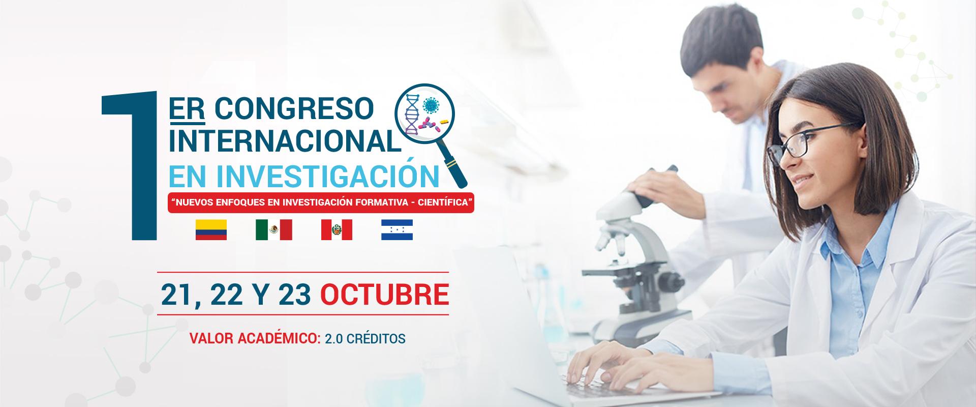 1er congreso internacional de investigación - Universidad Roosevelt - Huancayo